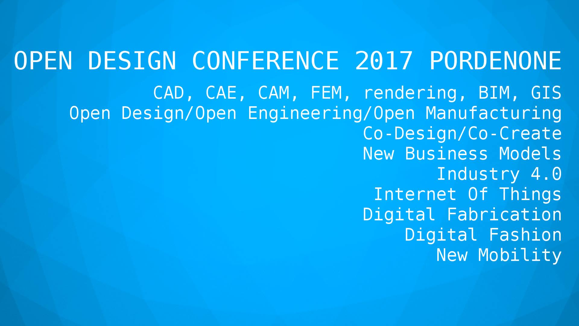 Open Design Conference 2017